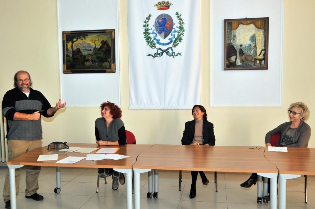 Seminario di Progetto Strada. Piero Zanelli, Gabriella Feraboli, Elisabetta Secchi, Beatrice Valentini. Brescia 29 novembre 2013. Ph Christian Penocchio